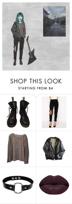 """""""slow hands, interpol"""" by glemtsjel ❤ liked on Polyvore featuring Dr. Martens, ASOS, Majestic Filatures, Schott NYC and Winky Lux"""