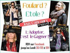 CONCOURS FACEBOOK !!! Jouer sur notre page Fan https://www.facebook.com/frexo.fr?ref=hl  et GAGNER l'#Etole ou le #Foulard de votre choix !!!  Avec Frexo, c'est l'ensemble de la #Collection qui vous appartient !