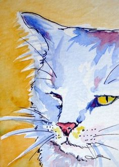 PersniKitty... humorous cat art ACEO print