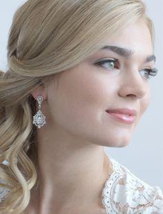 Cz Vintage Look Wedding And Formal Earrings
