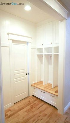 Built in lockers for the mud room