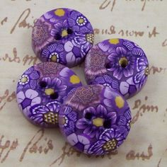 Handmade Polymer Clay Buttons by polymerclayshed on Etsy