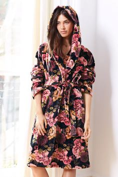 Buy Floral Hooded Printed Robe from the Next UK online shop