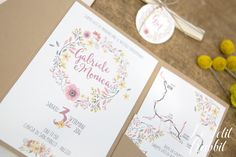 [WEDDING] Watercolor Flowers Wedding Suite_partecipazione matrimonio designed by Le Petit Rabbit