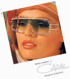 Vintage Cazal Sunglasses Ads, Catalogs and Promo Stuff from the Buy Sunglasses Online, Ray Ban Sunglasses Outlet, Funky Glasses, Cool Glasses, Cazal Sunglasses, Sunglasses Women, Sunnies, Vintage Sunglasses, Luxury Sunglasses