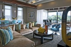 Colorful Clubhouse Lounge Room