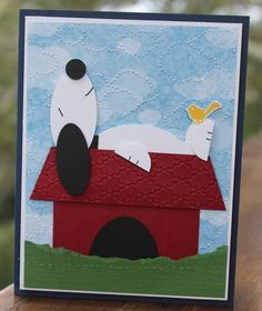 Snoopy Punch Art Card Stampin' Up! www.stampwithheather.ca