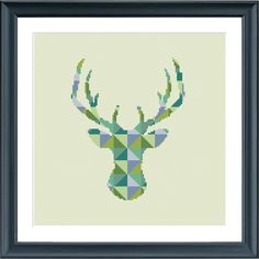 Al modern deer pattern in a block pattern. The pattern comes as a PDF file that youll will be able to download immediately after purchase. In addition