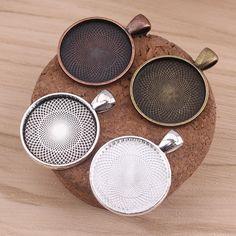 100x Blank Photo Cameo Cabochon Settings Tray Base Pendants DIY Jewelry 12mm