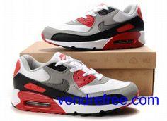 ea290719946 Vendre Pas Cher Femme Chaussures Nike Air Max 90 (couleur rouge
