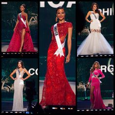 Throwback Miss Universe Top 5 finalists Miss Universe 2015, Prom Dresses, Formal Dresses, Beauty Queens, Celebrities, Tops, Fashion, Dresses For Formal, Moda