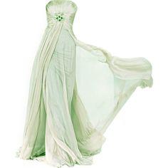 Robert Abi Nader - satinee.polyvore.com ❤ liked on Polyvore featuring dresses, gowns, long dress, vestidos, green dress, henley dress, masquerade ball gowns, evening gowns and green evening gown