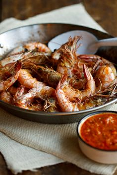 Oven-roasted prawns with homemade Peri-Peri sauce