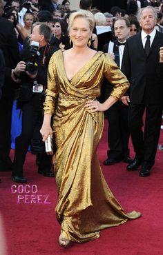 Meryl Streep at the 2012 Academy Awards.