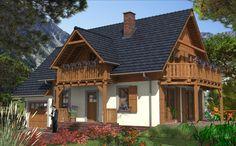 Znalezione obrazy dla zapytania dom z drewnianym balkonem