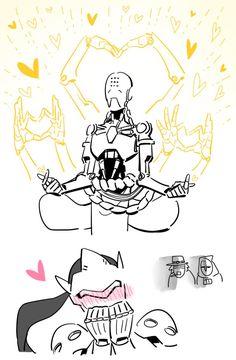 Zenyatta being to cute to commute. Overwatch Comic, Overwatch Reaper, Overwatch Genji, Overwatch Memes, Overwatch Fan Art, Character Art, Character Design, Widowmaker, Shall We Date