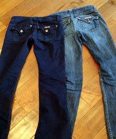 Holy Craft: Rit dye your favorite jeans (whole bottle of navy, 1/4 bottle black)