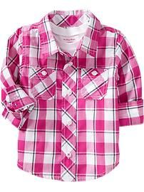Plaid Shirts for Baby - Old Navy 2013 FAVE!