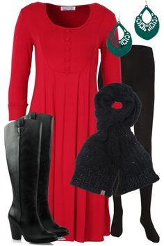 Winter-red-long-sleeve-dress-with-boots-and-scarf-smart-casual-work-outfit_brand_image