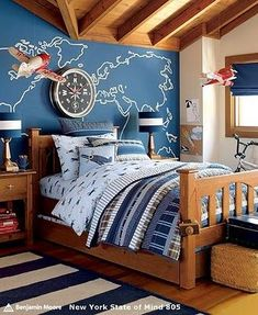 Like this for an older boys bedroom