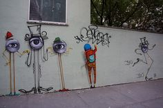 Os Gemeos x JR x Andre Saraiva in NYC
