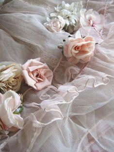 beautiful flowers & lace