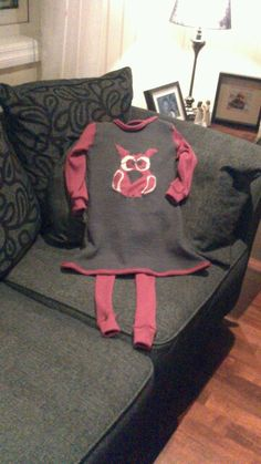 Wool owl dress and tights