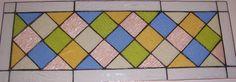 Stained Glass Transom Window Panel Classic by TerrazaStainedGlass