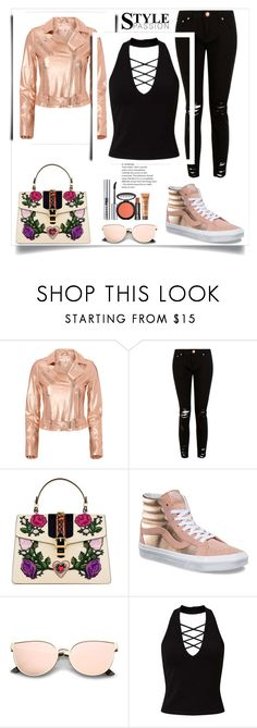 """""""Untitled #414"""" by dariah3412 on Polyvore featuring IRO, Gucci, Vans, Miss Selfridge and LORAC"""