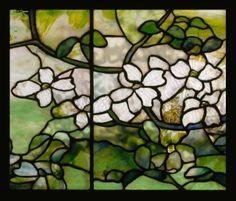 "Louis Comfort Tiffany ""Dogwood"" ca. 1900-15 (detail) | Flickr - Photo Sharing!"