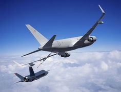 KC-46 Tanker refueling a F-35. New plane coming to McConnell in 2016