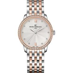Girard-Perregaux 49523D56A171-56A 1966 stainless steel, pink gold and... (16 245 AUD) ❤ liked on Polyvore featuring jewelry, watches, pink gold watches, rose gold watches, pink gold jewelry, rose gold jewellery and red gold jewelry