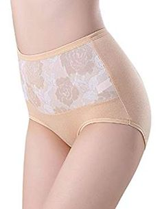 00d33b38b46ab PHOTNO Women Plus Size Underwear Briefs Panties High Waist Cotton Underpants.      Be