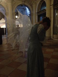 At the Venice Carnevale in full costume. My friend insisted I do a sort of 'Dr Who weeping angel' pose.