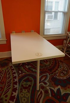 Folding Whiteboard Work Table