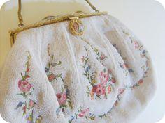 Rare VINTAGE WEDDING Designer Bag by Helene Dale by MissAntique, $250,00