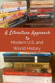 A Literature Approach to Modern U.S. and World History - The Curriculum Choice Homeschool Curriculum Reviews, Homeschool High School, Homeschooling, World History Lessons, School Plan, High School Students, How To Introduce Yourself, Literature, Modern