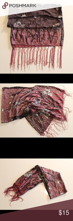Purple Glitter Scarf Reversible purple and black scarf with detailed glittered tulips. Accessories Scarves & Wraps