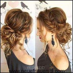 23 lange lockige Updo Frisuren | Hochzeits-Haar-Modelle ... | Einfache Frisuren