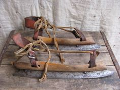 Antique Dutch ice skates/wood, leather and steel. Going Dutch, Ice Skating, Figure Skating, Delft, Winter Time, Good Old, Windmill, Retro, Netherlands