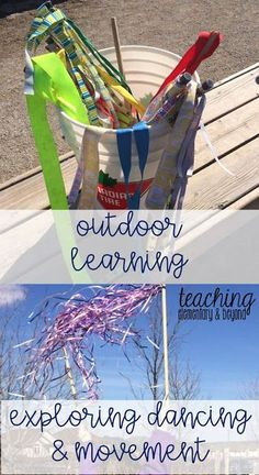 Explore dancing with your students outdoors in your outside classroom! Use ribbons and music as a provocation to inspire students to create movement and dance!