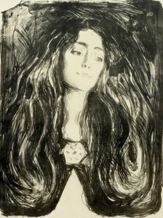 amare-habeo: Edvard Munch (Norwegian, 1863-1944) The Brooch. Eva Mudocci, 1903