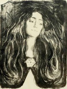 The Brooch. Eva Mudocci, 1903. Edvard Munch