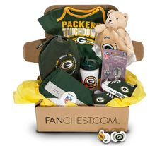 Shop Green Bay Packers Baby Gift Box - Includes Packers Baby Gear, Onesies, Bibs & More! The Perfect Gift for Future Packers Fans and makes the Perfect Packers Baby Shower Gift. Green Bay Packers Gifts, Green Bay Packers Merchandise, Baby Gift Box, Baby Gifts, Baby Boy Shower, Baby Shower Gifts, Packers Baby, Baby F