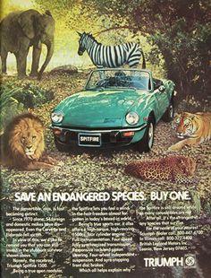 Vintage  Triumph Spitfire Ad - 1977
