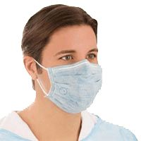 Medline Biomask Antiviral Face Mask, Standard,  Flat Mask with Pleats, 300/Case, BIOM2001A - http://healthandsciencestore.com/HealthStore/medline-biomask-antiviral-face-516694388/