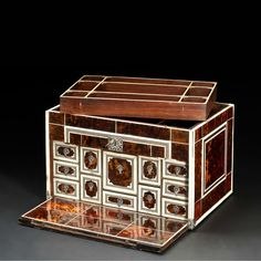 Indo-Portuguese tortoiseshell and ivory cabinet, India, 17th-18th century 44cm wide, 30cm high, 30cm deep