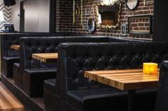 Design Interieur Lobby Bar  #bar #montreal #design #plateau #banquettes #tables #miroir #vintage   www.lobbybar.ca