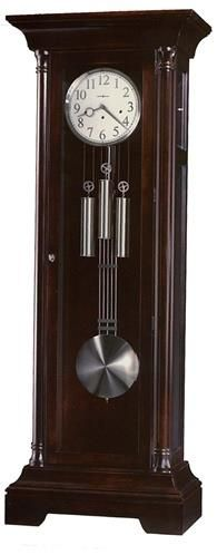 Howard Miller Seville Floor Clock. h1Howard Miller Seville Floor Clock_h1The Howard Miller Seville Floor Clock. The simple, yet elegant, flat top pediment of this floor clock is reminiscent of classic Greek and Roman architecture. The door is flanked by tw.. . See More Floor Clocks at http://www.ourgreatshop.com/Floor-Clocks-C1127.aspx