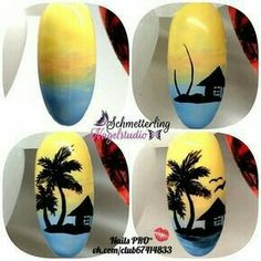 Gel Nail Designs You Should Try Out – Your Beautiful Nails Nail Art Designs Videos, Simple Nail Art Designs, Diy Nail Designs, Easy Nail Art, Acrylic Nail Designs, Pop Art Nails, Diy Nails, Tree Nail Art, Palm Tree Nails